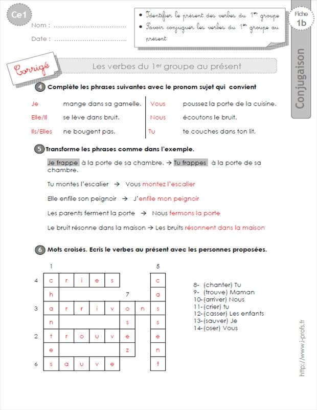 Bien-aimé ce1: conjugaison-fiches i-profs EI85