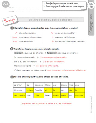 passe compose avoir essayer This is practice set 11 of 26 in the passé composé tense conjugate all forms of the verb essayer verify responses by clicking the check button below.