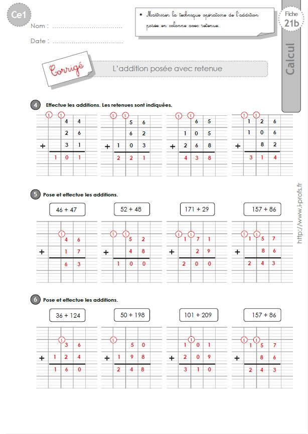 Calcul mental ce1 exercices qr17 montrealeast - Exercices tables d addition ce1 ...