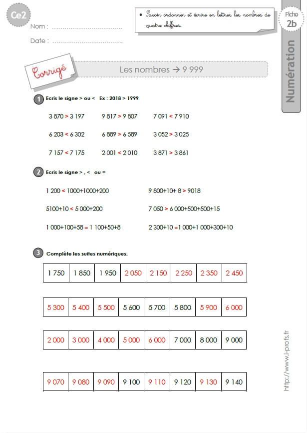 Ce2 exercices corrig s les nombres de 0 9999 - Calcul nombre de parpaing ...