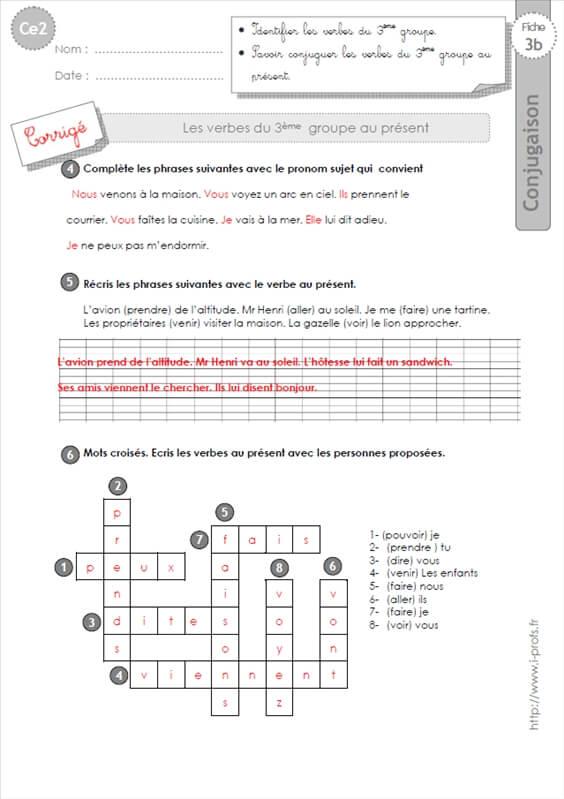 exercices sur les suites 3eme annee primaire pdf