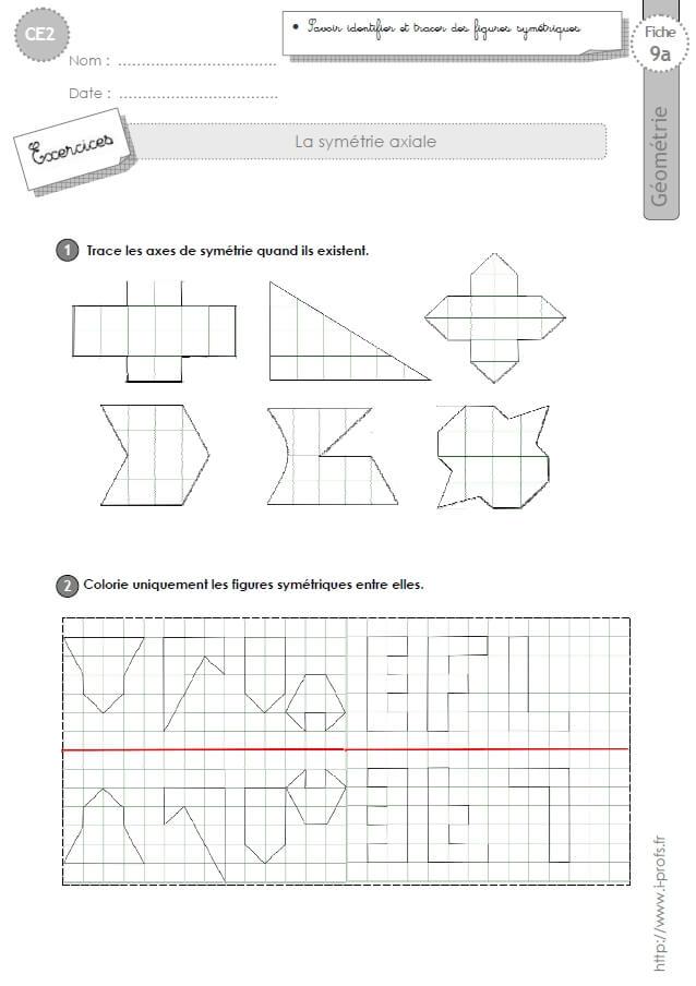 Ce2 Exercices Les Figures Symetriques