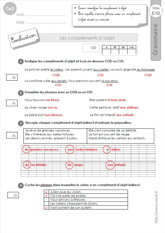 cod coi cos exercices pdf