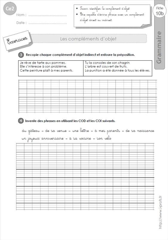 exercices coi et cod pdf
