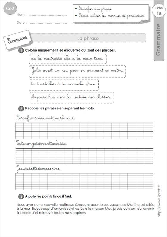 Souvent ce2: GRAMMAIRE-fiches i-profs HO26