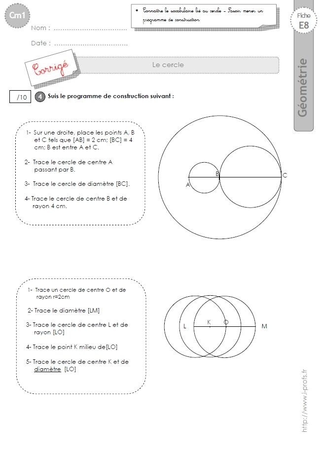 cm1: Evaluation le CERCLE