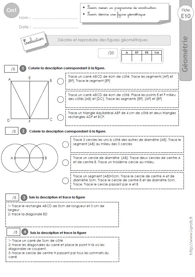 Cm1 Evaluation La Suivre Un Programme De Construction