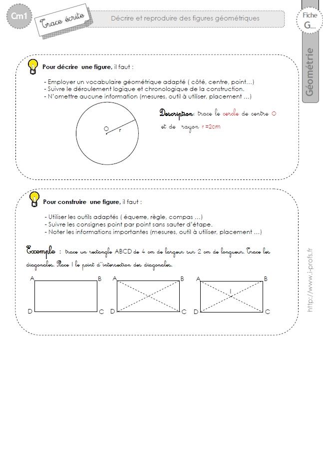 cm1: Leçon constuire une figure