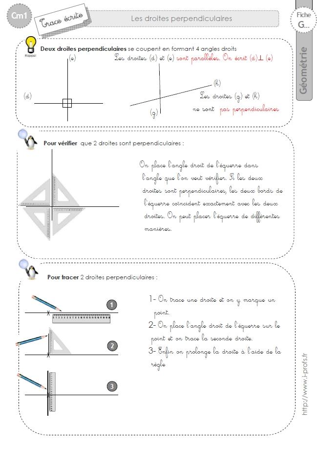 Cm1 Geometrie Fiches I Profs