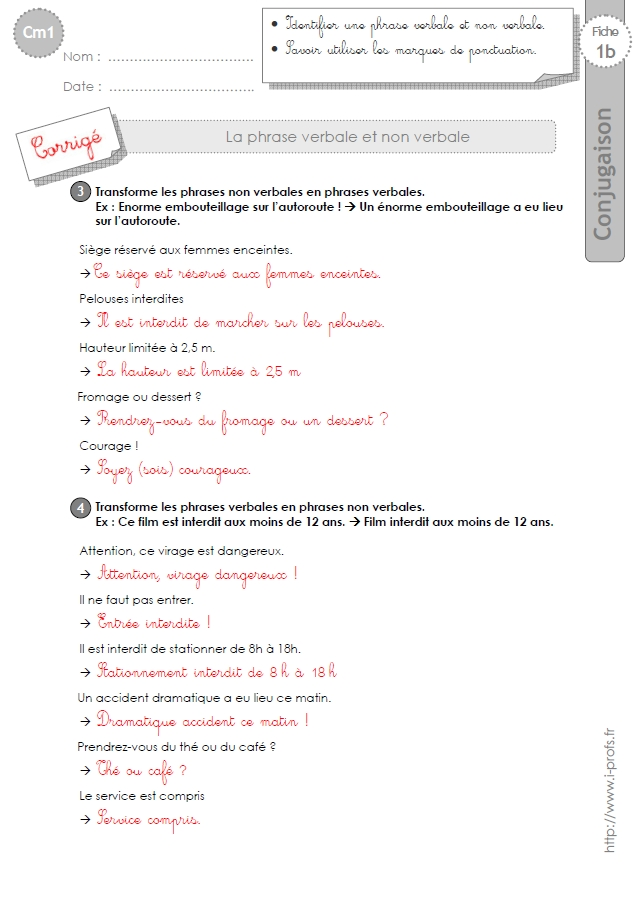 cm1: GRAMMAIRE-fiches i-profs