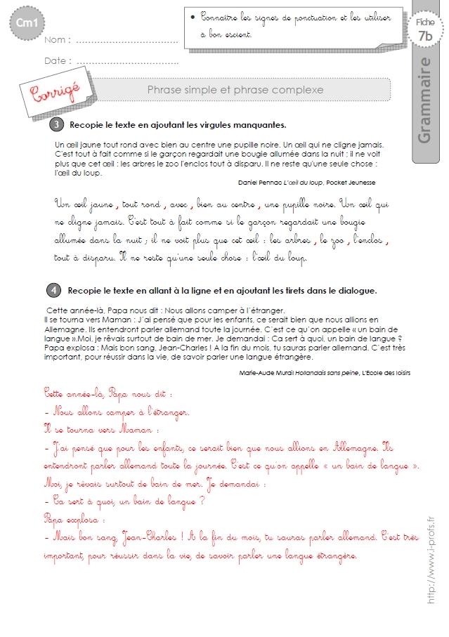 cm1: Exercices La phrase interrogative