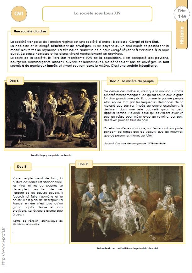 Trace écrite CM: LOUIS XIV et la MONARCHIE ABSOLUE