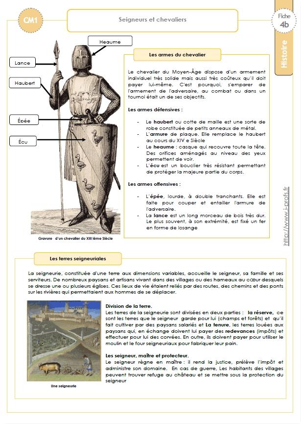 Fabuleux Trace écrite CM: SEIGNEURS et CHEVALIERS OW15