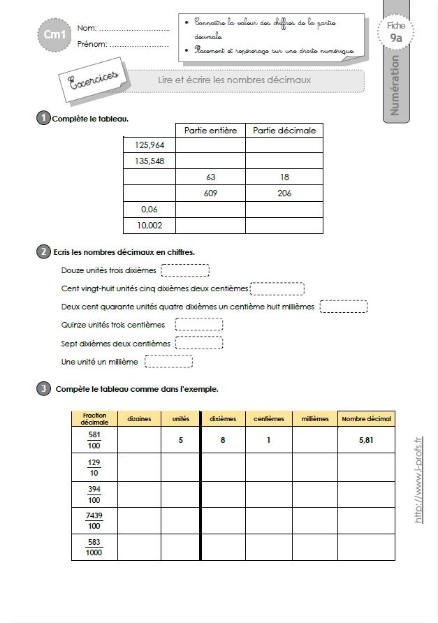 Exercice exercices ce2 en ligne ateliers pour les for Multiplication cm1 en ligne