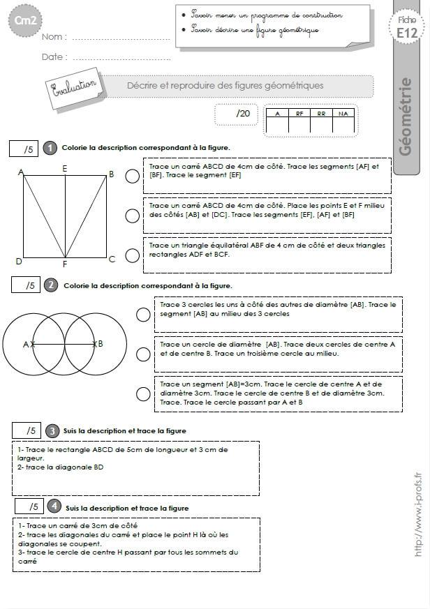 Cm2 Evaluation La Suivre Un Programme De Construction