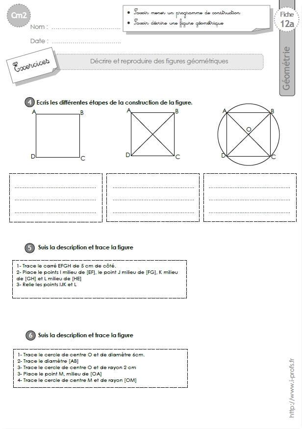 Préférence cm2: Exercices la SUIVRE UN PROGRAMME DE CONSTRUCTION OE37