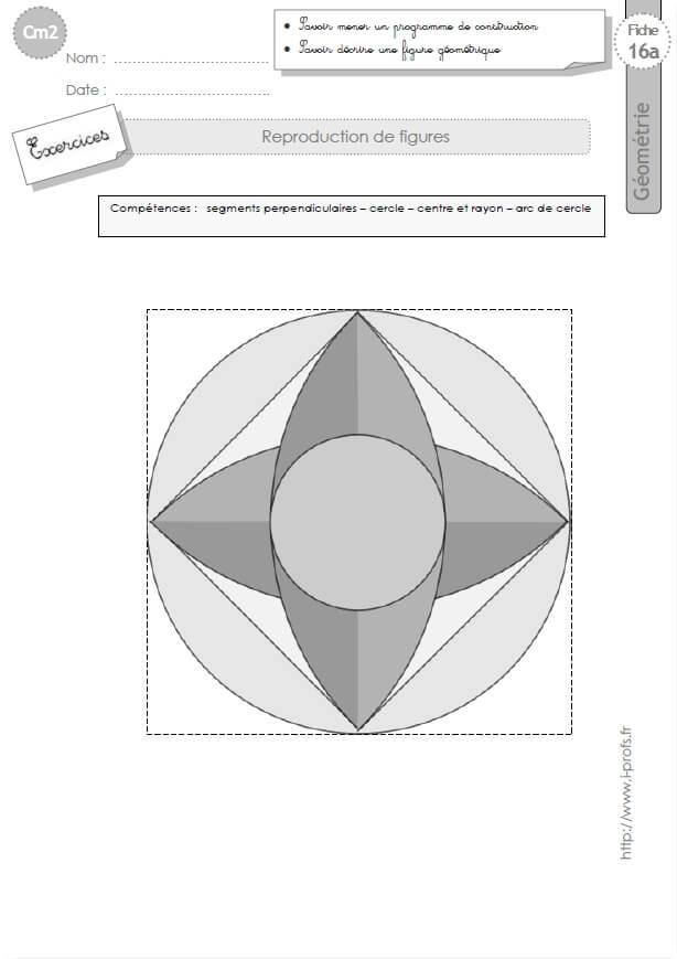 Cm2 Exercices Les Reproductions De Figures Geometriques