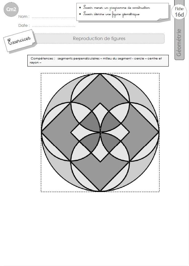cm2: Exercices Les REPRODUCTIONS DE FIGURES géométriques