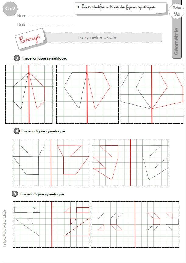 Célèbre cm2: EXERCICES la SYMETRIE AXIALE figures symétriques SQ76