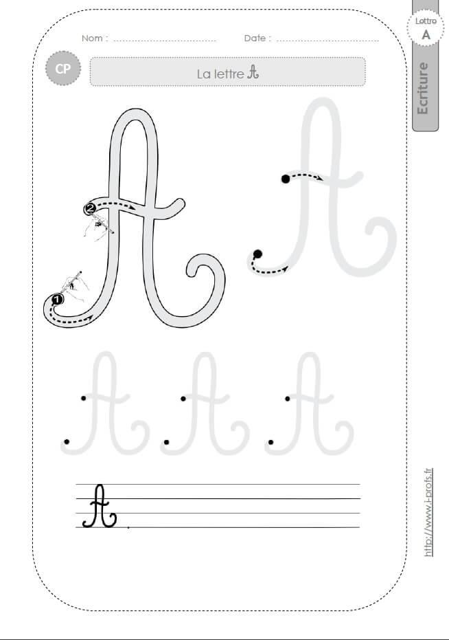 La lettre a majuscule au cp fiches d 39 ecriture mod les d 39 criture cursive - H en majuscule ...