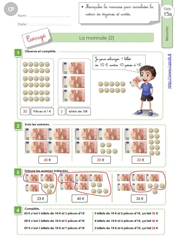 CP:Exercices sur la monnaie Période 3en GEOMETRIE-MESURES ...