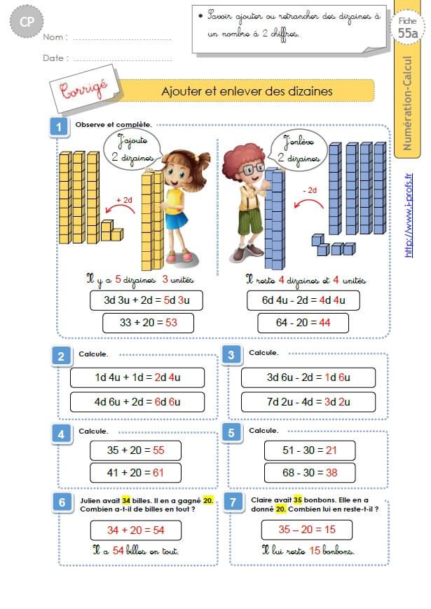 CP:NUMERATION CALCUL. 176 fiches d'exercices et d'évaluations en numération-calcul
