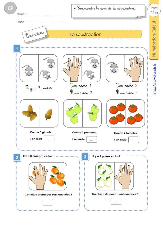 Cp Numeration Calcul La Soustraction
