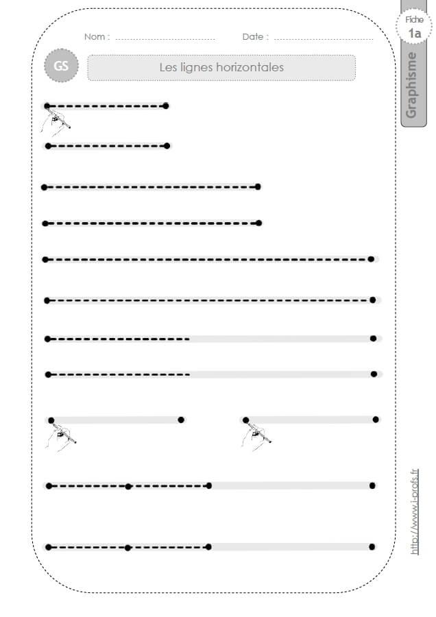 Populaire GS:GRAPHISME ET ECRITURE CURSIVE en Grande section de Maternelle EO26