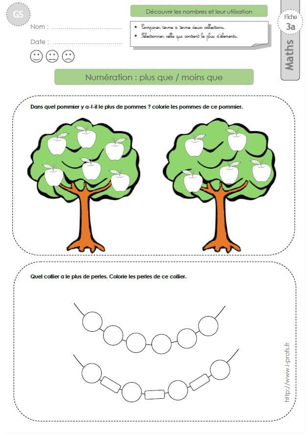 Gs Mathematiques 77 Fiches En Maths Maternelle Gande Section