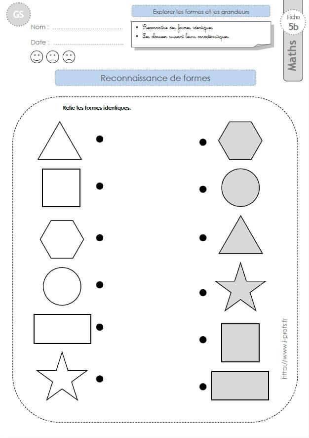 souvent GS: EXERCICES MATHEMATIQUES Reconnaitre des formes géométriques en  TS75