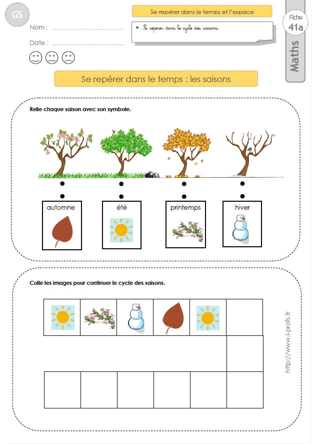 Gs exercices mathematiques images s quentielles lles saisons en maternelle grande section - Exercice gs a imprimer ...