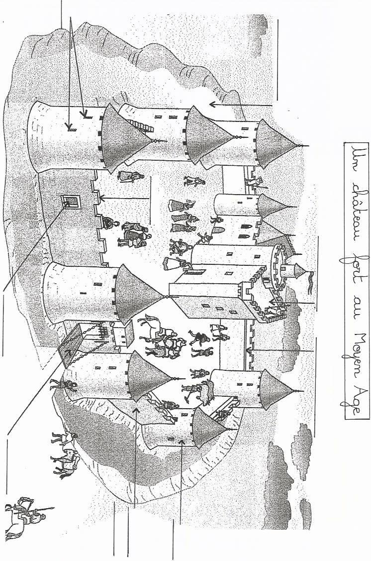 Histoire au cycle 3 fiches p dagogiques sur le moyen age - Dessin d un chateau ...